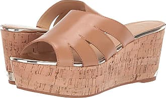 beca3f2b122 Nine West Victoria Platform Sandal (Light Natural) Womens Shoes