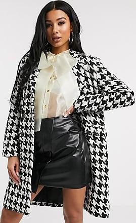 Unique21 Unique21 oversized coat in dogtooth-Multi