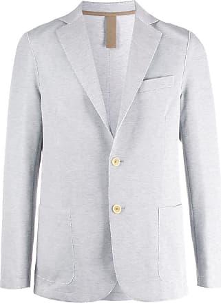 Eleventy single-breasted raw-edges blazer - Grey
