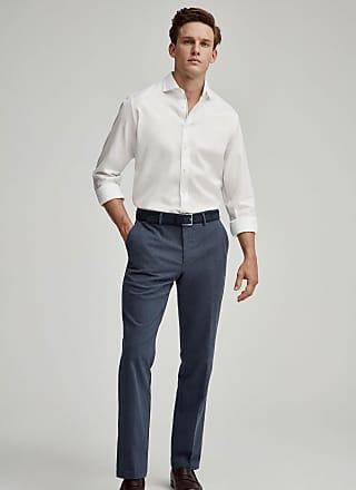 Hackett Mens Engineered Stripe Detail Cotton Shirt | Medium | White