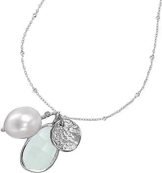 Dower & Hall Chalcedony & White Pearl Extendable Jewel Pendant