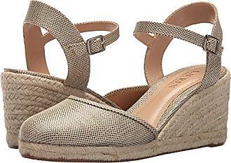 78112b98a Ralph Lauren Lauren Ralph Lauren Womens Hayleigh II Espadrille Wedge Sandal,  Platino, 11 B