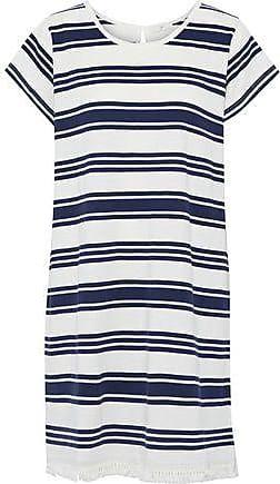 Joie Joie Woman Nanae Fringe-trimmed Striped Cotton-jersey Mini Dress White Size XXS