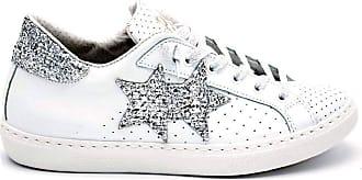2Star 2 star - sneaker donna con logo e dettaglio glitter - 38 - bianco-argento