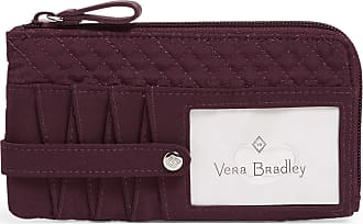 Vera Bradley Womens Iconic Microfiber RFID Ultimate Card Case Wallet, Mulled Wine, One Size