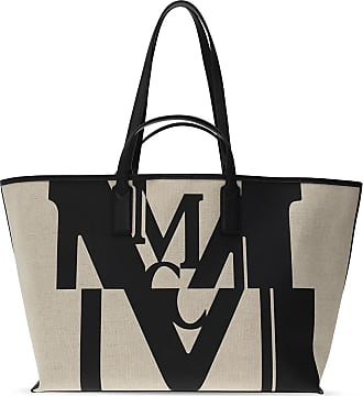 MCM Tote Bag With Logo Womens Beige