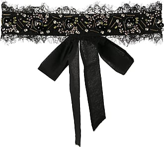 Onefifteen embellished lace trim belt - Black