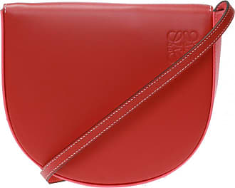 Loewe Heel Shoulder Bag With Logo Womens Red