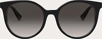Valentino Valentino Occhiali Round Acetate Frame With Functional Stud Women Black Acetate 100% OneSize