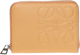 Loewe Leather Wallet With Logo Mens Yellow