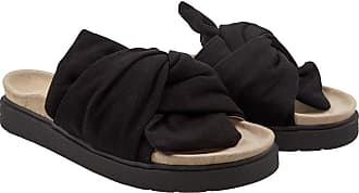 INUIKII Knoten-Pantolette, Schwarz, Damen, aus Textil