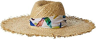 ále by Alessandra Womens Lulu Raffia Sunhat Packable, Adjustable & UPF Rated, Natural, One Size