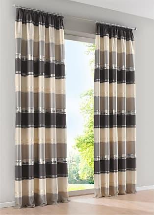 Bonprix Jacquard Vorhang mit Querstreifen (1er Pack) grau, bonprix