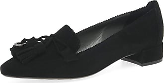 Peter Kaiser Shea Womens Suede Tassel Loafers 6 UK Black Suede