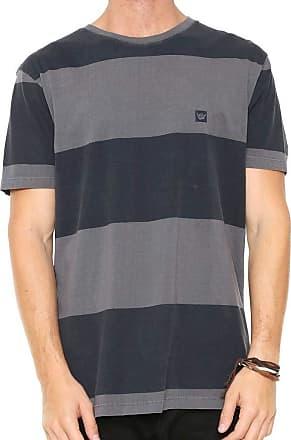 Hang Loose Camiseta Hang Loose Especial Blockstripe Cinza/preto