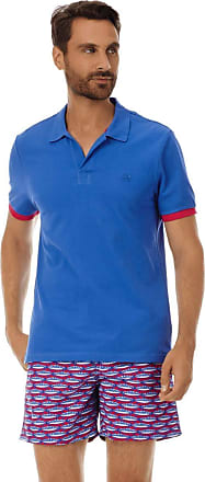 Vilebrequin Men Cotton Pique Polo Shirt Solid - Sea Blue - XL