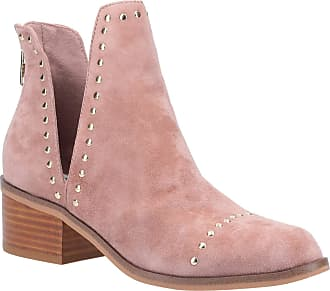 Steve Madden Womens Conspire Slip On Leather Ankle Boots Pink Tan
