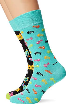 Happy Socks Mens Cat Gift Box Socks, (Multicolour 630), 7-10 (Size:41-46) (Pack of 2)