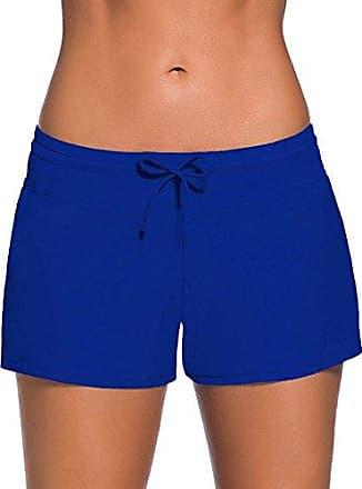 8c05eea5e1962d Minetom Bikini Damen Badeshorts Schwimmen Bikinihose Wassersport  Schwimmshorts Boardshorts Badehose Sport Swim Shorts Blau DE 38