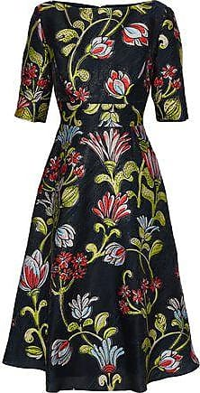 1449a6f29d Lela Rose Lela Rose Woman Floral-jacquard Dress Navy Size 6