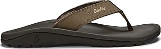 Olukai Ohana 2020 Mens Sandals Dark Wood/Dark Wood Size: 14 D (M)