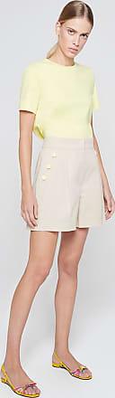 Escada Sport Cotton Twill Button Detail Shorts