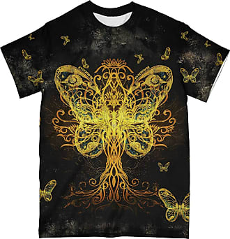NA Yellow Butterfly Tree of Life 3D Shirt Back