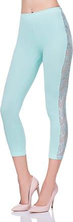 FUTURO FASHION Cropped 3/4 Lenght Cotton Leggings with Lace Active Dance Pants LPL34