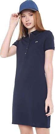 bb26ba8bb0a Lacoste Vestido Polo Lacoste Curto Logo Azul-marinho