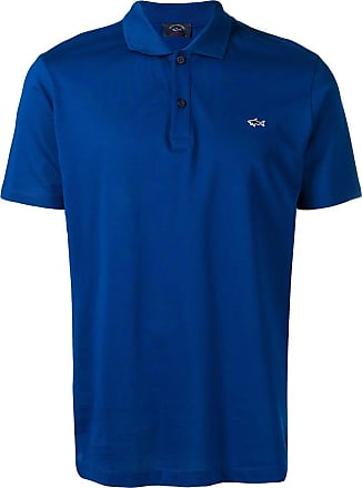 Paul & Shark embroidered logo polo shirt - Azul