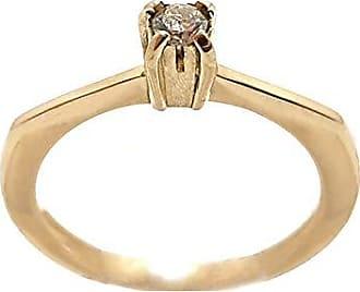 Boreale Joias Anel Solitário Ouro 18k 750 Diamante 10 Pontos Noivado
