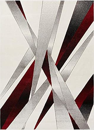 Well Woven RU-90-7 Red Lalu Modern Abstract Lines 710 x 910 Area Rug