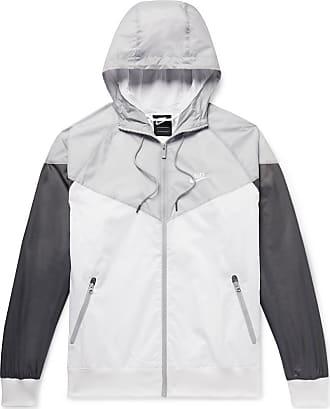 Nike Windrunner Colour-block Nylon Hooded Jacket - White