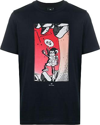 Paul Smith Camiseta Climbing Monkey de algodão orgânico - Azul