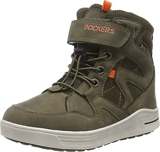 Dockers by Gerli Unisex Kids 45ro702 Hi-Top Trainers, Green (Khaki 850), 6 UK