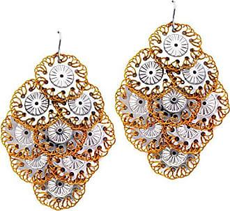 Tinna Jewelry Brinco Margaridas Caseadas (Prateado)