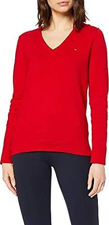 Tommy Hilfiger Denim Pull Femme Basic Deep Sweater Rouge