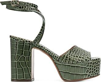 L'autre Chose Sandália plataforma com efeito pele de crocodilo - Verde