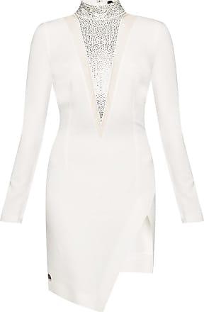 Philipp Plein Dress With Decorative Elements Womens White
