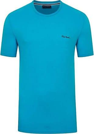 Pierre Cardin Camiseta Malha Básica Azul Turquesa GG