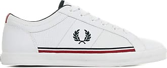 Fred Perry Baseline Perf Leather B7114200 Size: 10 UK White
