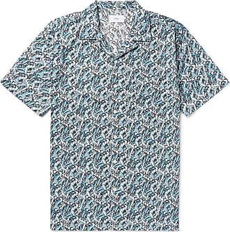 Onia + Liberty London Vacation Camp-collar Printed Cotton-poplin Shirt - Turquoise