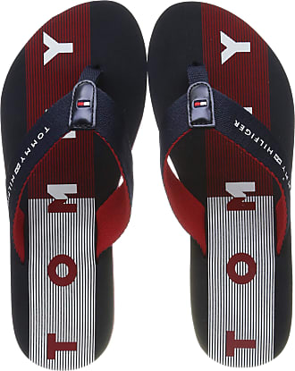TOMMY HILFIGER TOMMY Loves Ny Beach Damen Navy Red Blue Flip