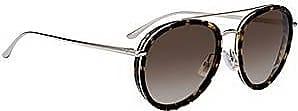 BOSS Sonnenbrille aus Acetat mit Doppelsteg und Havanna-Muster