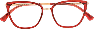 Mykita MYKITA AILI 855 CHAMPAGNEGOLD/RUBY Leather/Fur/Exotic Skins->Leather - Vermelho
