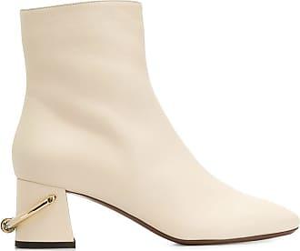 L'autre Chose Ankle boot com detalhe de espora - Neutro