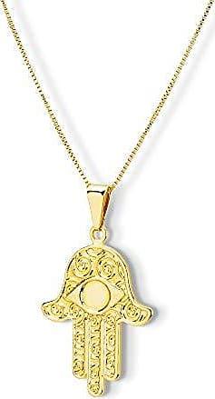 Design Medalhas Pingente Medalha Mão de Fátima Banhado com ouro 18k