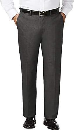 Black Black 52L with  Plain Front Pant 44Wx32L Haggar Mens Big and Tall J.m Premium Stretch Classic Fit 2-Button Coat