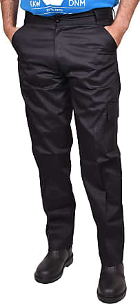 True Face Mens Cargo Pro Patrol Pants Tactical Combat Work Trousers Big King Size All Black