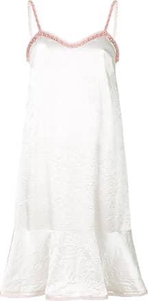Koché Vestido com efeito amassado - Branco